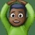 🙆🏿♂️ man gesturing OK: dark skin tone Emoji on Facebook Platform