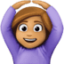 🙆🏽‍♀️ woman gesturing OK: medium skin tone Emoji on Facebook Platform
