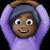 🙆🏿♀️ woman gesturing OK: dark skin tone Emoji on Facebook Platform