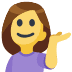 💁 person tipping hand Emoji on Facebook Platform