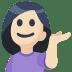 💁🏻 person tipping hand: light skin tone Emoji on Facebook Platform