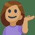 💁🏽 person tipping hand: medium skin tone Emoji on Facebook Platform
