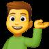 💁♂️ man tipping hand Emoji on Facebook Platform