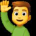 🙋♂️ man raising hand Emoji on Facebook Platform