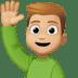 🙋🏼♂️ man raising hand: medium-light skin tone Emoji on Facebook Platform