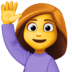🙋‍♀️ woman raising hand Emoji on Facebook Platform