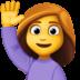 🙋♀️ woman raising hand Emoji on Facebook Platform