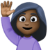🙋🏿♀️ woman raising hand: dark skin tone Emoji on Facebook Platform