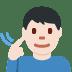 🧏🏻♂️ deaf man: light skin tone Emoji on Facebook Platform