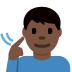 🧏🏿‍♂️ deaf man: dark skin tone Emoji on Facebook Platform