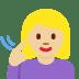 🧏🏼♀️ deaf woman: medium-light skin tone Emoji on Facebook Platform