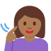 🧏🏾‍♀️ deaf woman: medium-dark skin tone Emoji on Facebook Platform