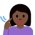 🧏🏿‍♀️ deaf woman: dark skin tone Emoji on Facebook Platform
