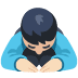 🙇🏻 person bowing: light skin tone Emoji on Facebook Platform
