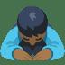 🙇🏾 person bowing: medium-dark skin tone Emoji on Facebook Platform