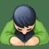🙇🏻♂️ man bowing: light skin tone Emoji on Facebook Platform
