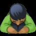 🙇🏾♂️ man bowing: medium-dark skin tone Emoji on Facebook Platform