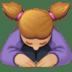 🙇🏼♀️ woman bowing: medium-light skin tone Emoji on Facebook Platform
