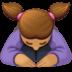 🙇🏽♀️ woman bowing: medium skin tone Emoji on Facebook Platform