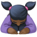 🙇🏿‍♀️ woman bowing: dark skin tone Emoji on Facebook Platform