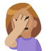 🤦🏼 person facepalming: medium-light skin tone Emoji on Facebook Platform