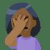 🤦🏾 person facepalming: medium-dark skin tone Emoji on Facebook Platform
