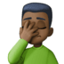 🤦🏿‍♂️ man facepalming: dark skin tone Emoji on Facebook Platform