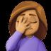 🤦🏽♀️ woman facepalming: medium skin tone Emoji on Facebook Platform
