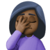 🤦🏿‍♀️ woman facepalming: dark skin tone Emoji on Facebook Platform