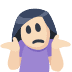 🤷🏻 person shrugging: light skin tone Emoji on Facebook Platform