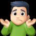 🤷🏻♂️ man shrugging: light skin tone Emoji on Facebook Platform
