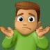 🤷🏽♂️ man shrugging: medium skin tone Emoji on Facebook Platform
