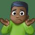 🤷🏿♂️ man shrugging: dark skin tone Emoji on Facebook Platform