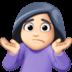 🤷🏻♀️ woman shrugging: light skin tone Emoji on Facebook Platform