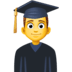 👨‍🎓 Male Student Emoji on Facebook Platform