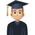 👨🏼🎓 man student: medium-light skin tone Emoji on Facebook Platform
