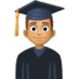 👨🏽‍🎓 Medium Skin Tone Male Student Emoji on Facebook Platform