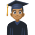 👨🏾‍🎓 man student: medium-dark skin tone Emoji on Facebook Platform