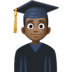 👨🏿‍🎓 man student: dark skin tone Emoji on Facebook Platform