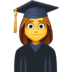 👩🎓 woman student Emoji on Facebook Platform