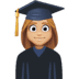 👩🏼‍🎓 woman student: medium-light skin tone Emoji on Facebook Platform