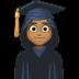 👩🏾🎓 woman student: medium-dark skin tone Emoji on Facebook Platform