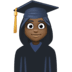 👩🏿‍🎓 woman student: dark skin tone Emoji on Facebook Platform