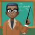 👨🏿🏫 man teacher: dark skin tone Emoji on Facebook Platform