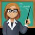 👩🏼🏫 woman teacher: medium-light skin tone Emoji on Facebook Platform