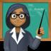 👩🏾🏫 woman teacher: medium-dark skin tone Emoji on Facebook Platform