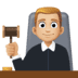 👨🏼‍⚖️ man judge: medium-light skin tone Emoji on Facebook Platform