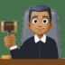 👨🏾⚖️ man judge: medium-dark skin tone Emoji on Facebook Platform