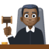 👨🏿‍⚖️ man judge: dark skin tone Emoji on Facebook Platform