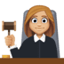 👩🏼‍⚖️ woman judge: medium-light skin tone Emoji on Facebook Platform